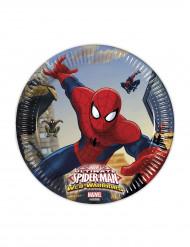 Ultimate Spider-Man™ Pappteller für Kindergeburtstage Marvel™ Lizenzartikel 8 Stück bunt 20cm