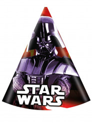 Star Wars™-Partyhüte Darth Vader 6 Stück bunt 11x16cm