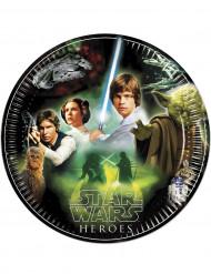 Star Wars Pappteller Heroes Party-Deko 8 Stück bunt 23cm