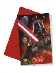 Star Wars Darth Vader Einladungskarten mit Umschlag 6 Stück bunt 9x14cm