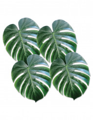 4 Palmenblätter aus Kunststoff grün