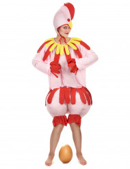 Lustiges Huhn Unisex-Kostüm rosa-rot