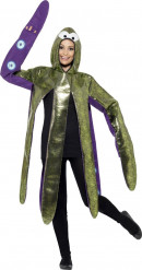 Süsser Oktopus Kostüm Unisex grün-lila