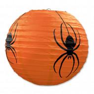 Spinnen Lampions Laternen Halloween-Partydeko 3 Stück orange-schwarz 24cm