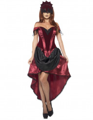 Sexy Venezianerin Damenkostüm rot-schwarz