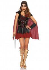 Heisse Gladiatorin Damenkostüm Kriegerin braun-rot