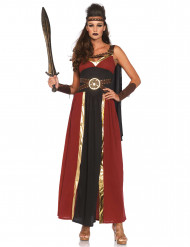 Römische Gladiatorin Kriegerin Damenkostüm rot-braun