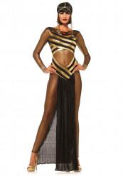 Heisse ägypterin Damenkostüm Pharaonin schwarz-gold