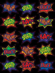 Lustige Comic-Sticker 15 Stück bunt