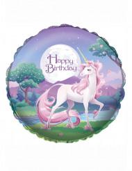 Mein magisches Einhorn™ Luftballon Happy Birthday bunt 46cm