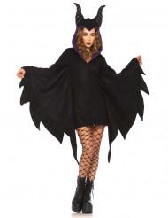Heisse Fledermaus-Vampirin Halloween Damenkostüm schwarz-violett