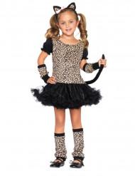 Süsser Leopard Kinderkostüm Wildkatze schwarz-braun
