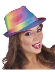 Borsalino-Erwachsenenhut schrill regenbogenfarben