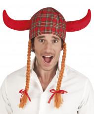 Wikinger Helm im Schottenstoff für Erwachsene