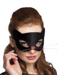 Katzenmaske für Damen Kostümaccessoire schwarz