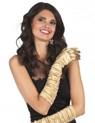 Lange Gala-Handschuhe gold 48cm