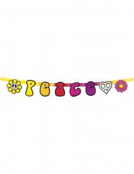 70er Hippie Buchstaben-Banner Peace bunt 95x12cm