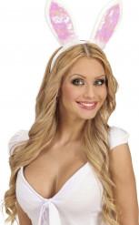 Kaninchenohren Kostümzubehör weiss