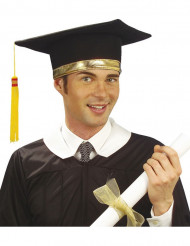 Diplomanden Hut Karneval-Zubehör schwarz