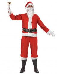 Weihnachtsmann-Kostüm Nikolaus Adventskostüm rot-weiss