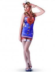 Matrosenkostüm für Damen blau-weiss-rot