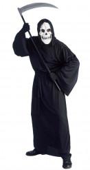 Klassischer Sensenmann Halloween-Herrenkostüm schwarz-weiss