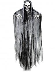 Sensenmann Skelett Halloween-Deko schwarz-grau 90cm
