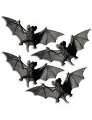 Fledermaus Halloween Deko schwarz-braun 4er-Set 11cm