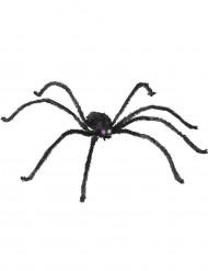 Riesen Spinne formbar mit Leuchtaugen Halloween Deko schwarz 153cm