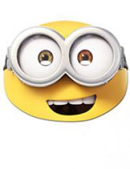Offizielle Bob Maske Minions™ gelb-weiss