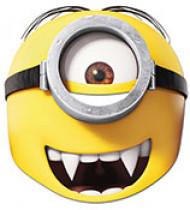 Lustige Minions™ Vampir-Maske gelb-schwarz-weiss 22x21cm