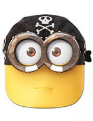 Piratenmaske Minions™ Seeräubermaske gelb-schwarz