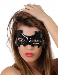 Superheldin-Maske Fledermausfrau schwarz