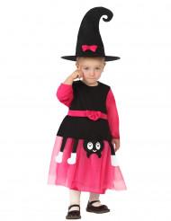 Süsse Hexe Babykostüm Kleinkind schwarz-pink