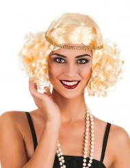 Charleston Damen-Perücke Locken blond