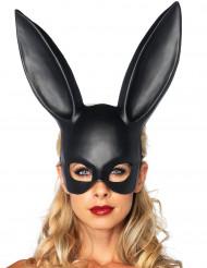 Verruchte Bunny Halbmaske Hase schwarz