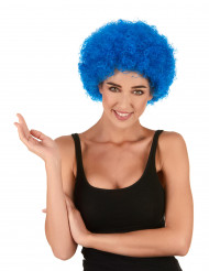 Lustige Clown Afro-Perücke blau