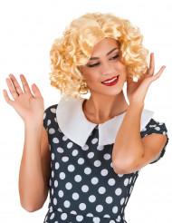 Süße Lockenperücke 50er Jahre blond