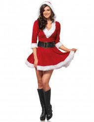 Kurzes Weihnachtsfrauenkostüm
