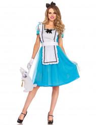 Süsse Alice Märchen Damenkostüm blau-weiss-schwarz
