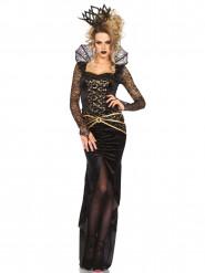 Böse Königin Damenkostüm Märchen schwarz-gold