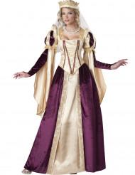 Mittelalter Prinzessin Deluxe Damenkostüm Märchen creme-bordeaux
