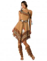 Indianerin Western Kostüm braun