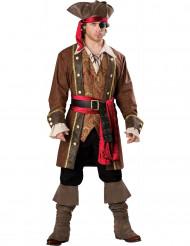 Deluxe Piraten Kapitän-Herrenkostüm Freibeuter braun