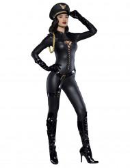 Verführerische Offizierin Deluxe Damenkostüm schwarz