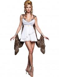 Antike Göttin Damenkostüm weiss-braun