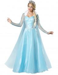 Schneeprinzessin Damen-Kostüm hellblau-weiß