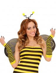 Bienen Armstulpen gelb-schwarz