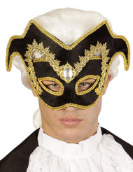 Venezianische Halbmaske gol-schwarz