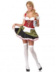 Bayerin Oktoberfest Dirndl Damenkostüm bunt